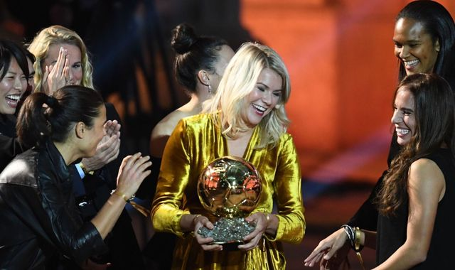 First women's Ballon d'Or marred as winner Ada Hegerberg is asked to twerk