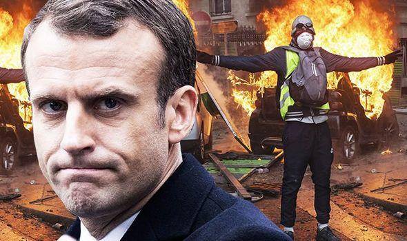 MACRON BUCKLES: Weak French President CAVES IN as riots and rebels force red-faced u-turn