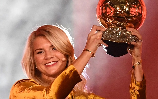 Football star Ada Hegerberg asked to twerk after inaugural womens Ballon dOr win