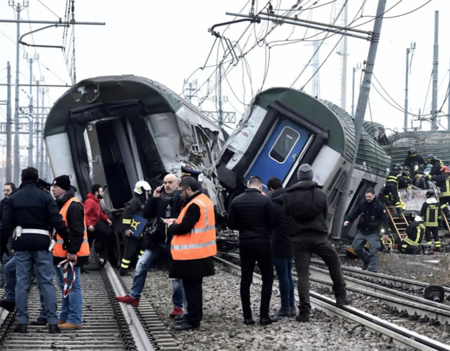 BREAKING: Train derails in horrific rush-hour crash in Milan - fatalities reported