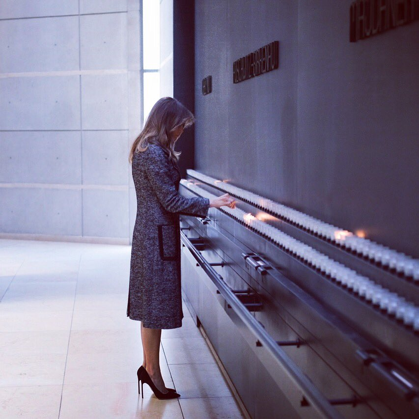 First lady Melania Trump skips Davos, goes to Holocaust memorial in Washington