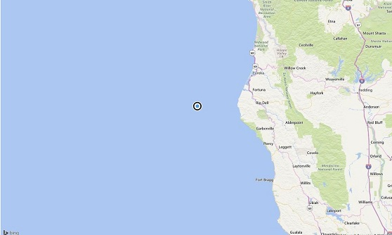 5.8 earthquake strikes off Northern California coast. No tsunami threat