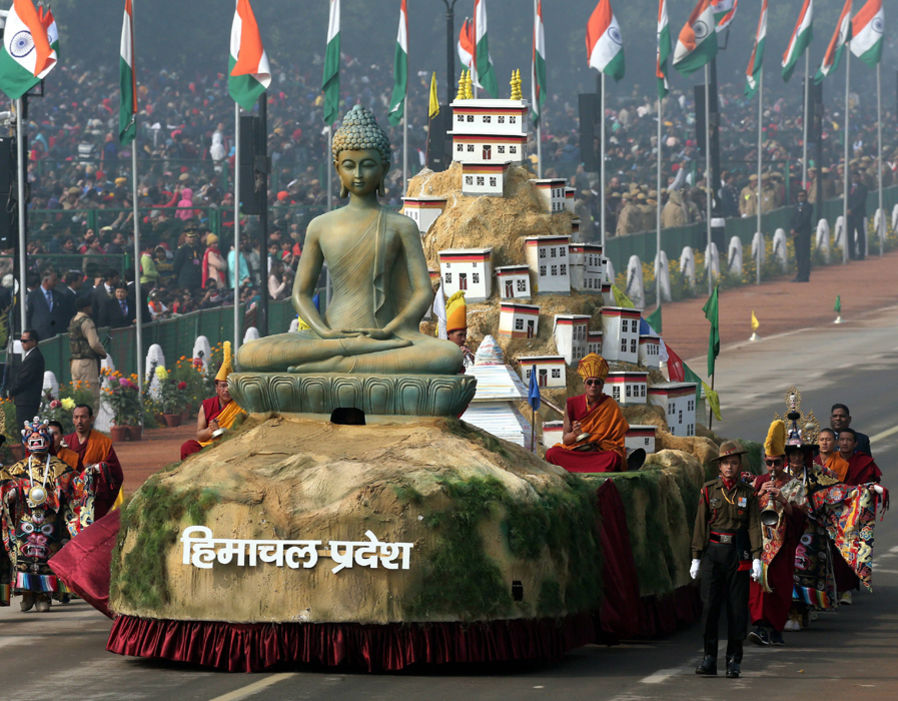 India Republic Day 2018 in pictures: Massive military parade, motorbike stunts and camels