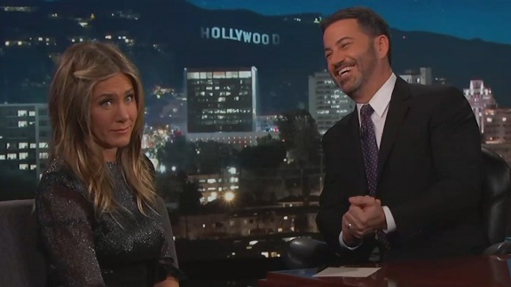 Jimmy Kimmel's daughter used Jennifer Aniston's backyard as a bathroom