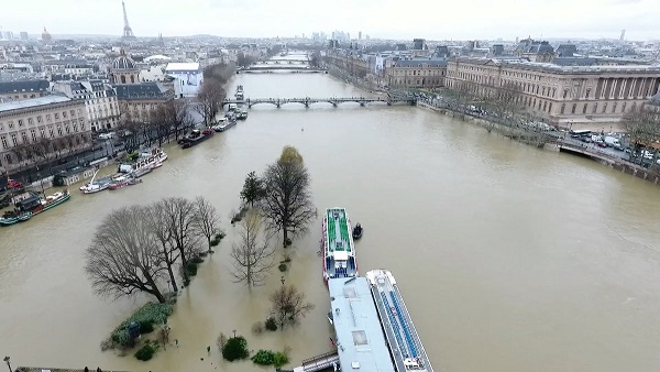 Paris on flooding high alert as swollen River Seine set to rise further