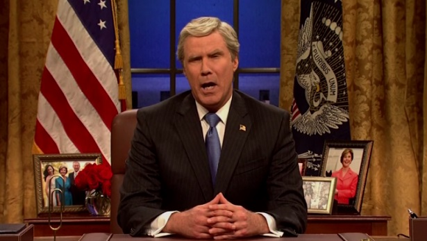 SNL: Will Ferrell Reprises George W. Bush Impression in Cold Open