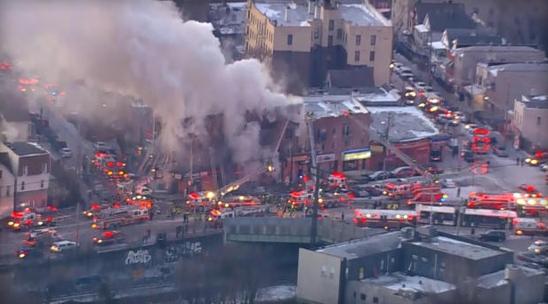 At least 16 hurt in 7-alarm fire in the Bronx