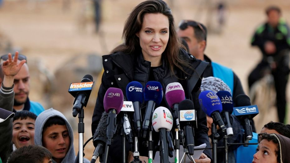Angelina Jolie describes soul-destroying visit to Syrian refugee camp