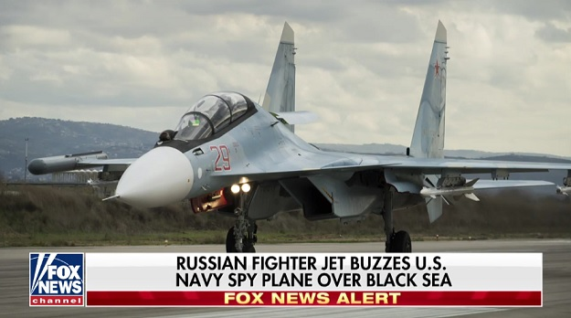 Russian fighter jet buzzes US spy plane in Black Sea, Navy says