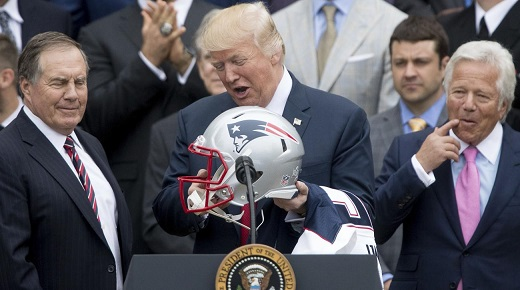 President Trump opts out of Super Bowl interview