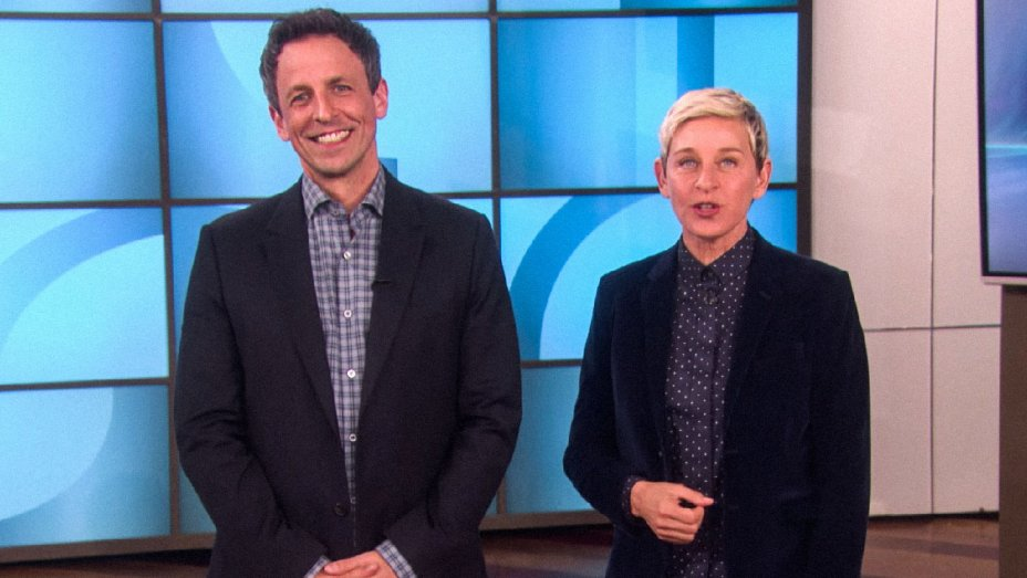 Ellen DeGeneres Puts Seth Meyers Through Awards Show Boot Camp