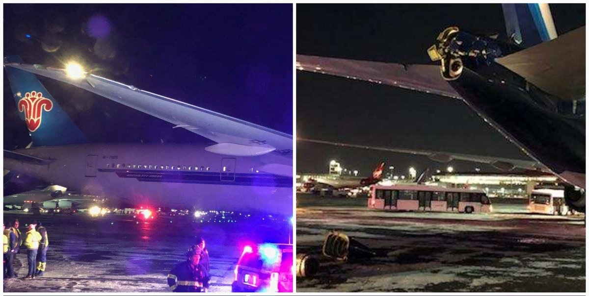 Planes collide at Toronto airport, sparking fire