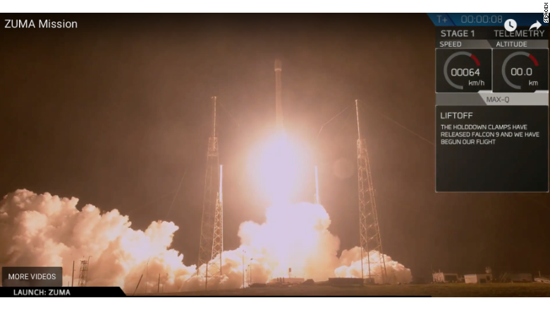 SpaceX launches secretive Zuma spacecraft