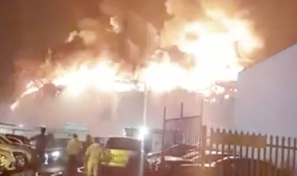London in FLAMES: Massive fireball in the sky in capital as firefighters rush to scene