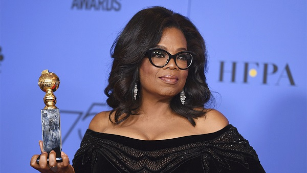 "During her Globes speech, Oprah calls for a day when no one has to say ""me too."""