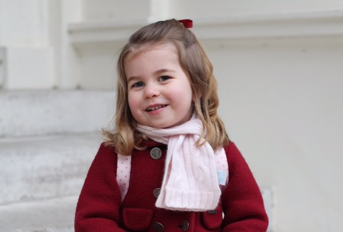Princess Charlotte Pictured On Her First Day Of Nursery In Adorable Photos Taken By Duchess Of Cambridge