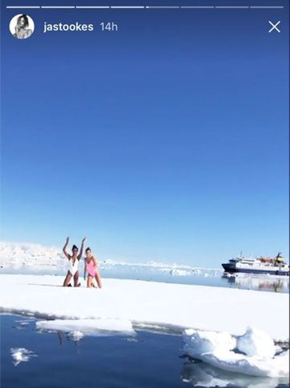 Victoria's Secret Angels can't resist slipping into swimsuits during cold Antarctica break