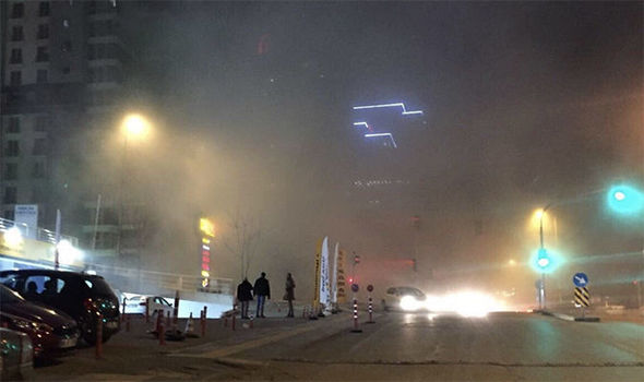 Huge explosion in Ankara - smoke rises above Turkey capital