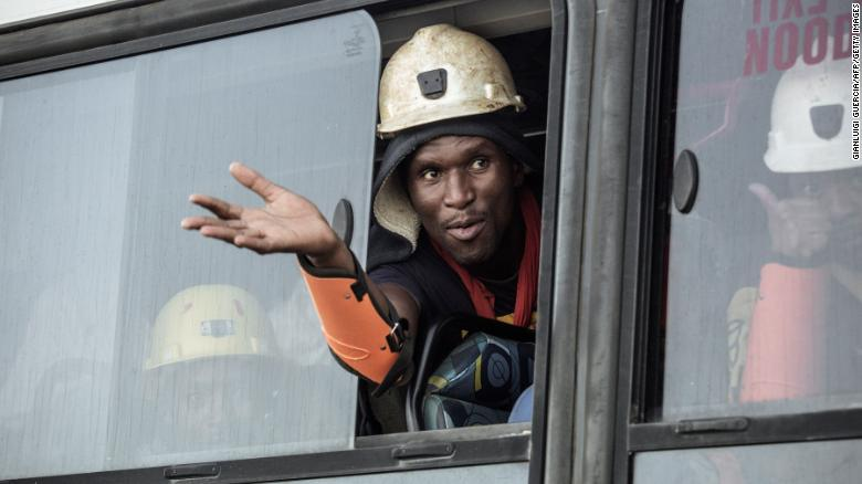 Hundreds of workers trapped in South African gold mine