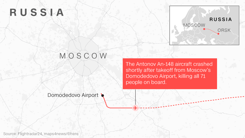 Russia plane crash responders find 200 body parts