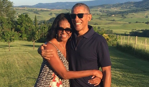 Barack and Michelle Obama post sweet tweets to each other for Valentine's Day