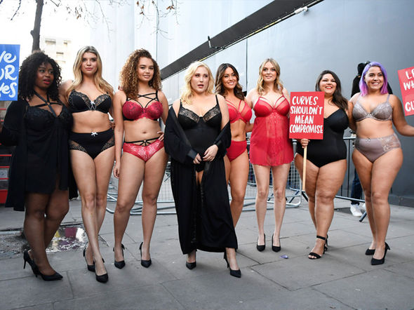 London Fashion Week protested by topless PETA activists and plus size women in lingerie