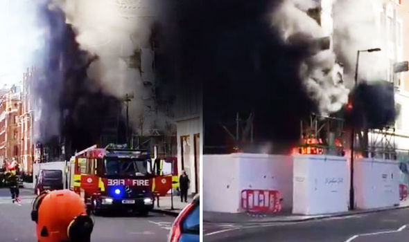 BREAKING: Great Portland Street fire: 50 fire fighters swarm Soho near BBC building