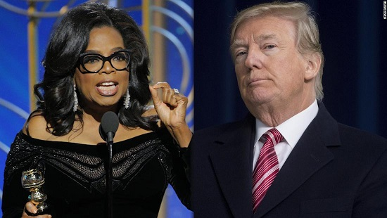 Trump slams Oprah, hopes to see her 2020 run to expose and defeat