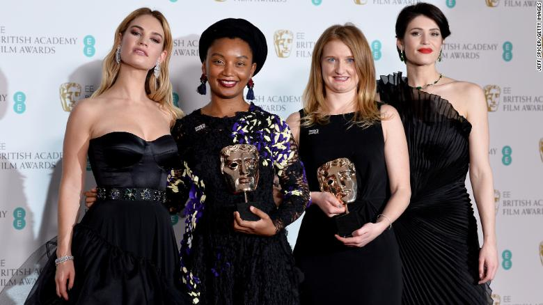 Duchess of Cambridge opts for green as black dresses sweep BAFTAs