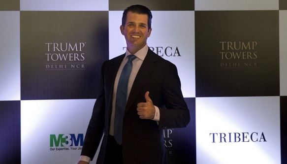 Donald Trump Jr. promotes Trump brand, new luxury developments in India