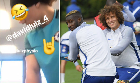 Chelsea prepare for Barcelona clash but what is David Luiz doing to Tiemoue Bakayoko?