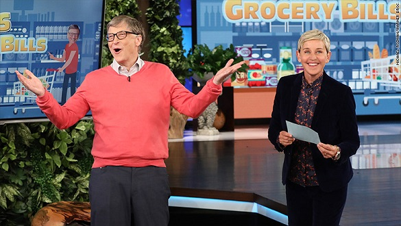 Bill Gates flunks Ellens grocery shopping challenge