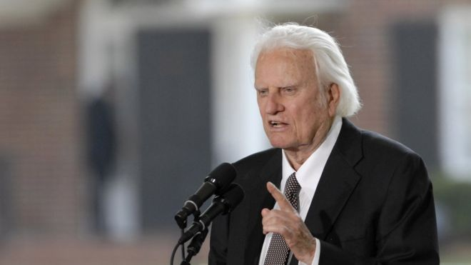 Spokesman: Evangelist Billy Graham has died at age 99