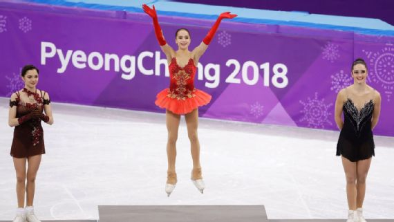 Alina Zagitova edges countrywoman Evgenia Medvedeva to win figure skating gold