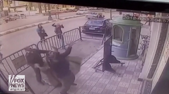 Watch: Moment when police officers catch falling 5-year-old