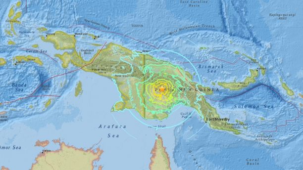 Papua New Guinea hit by 7.5 earthquake