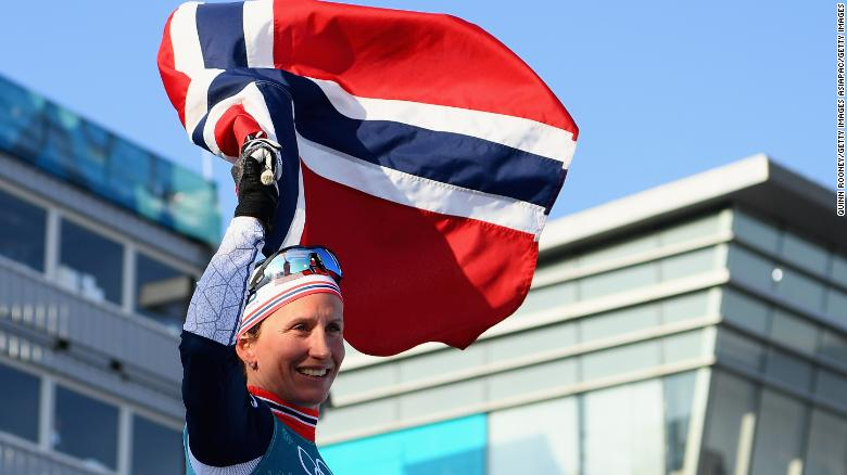 Record-breaker Marit Bjoergen sends Norway top of final medal tally