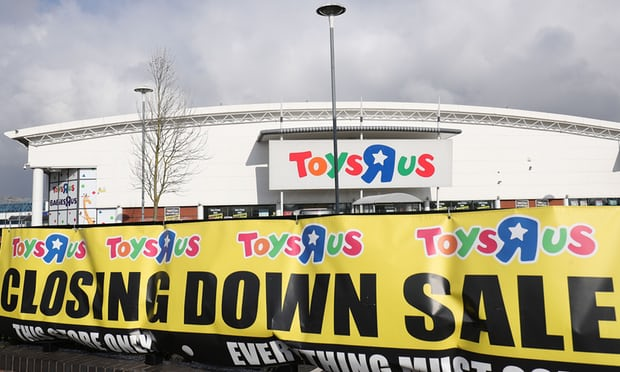 Thousands of jobs at risk as Maplin and Toys R Us fall into administration - business live