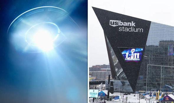 Have ALIENS buzzed the Superbowl? UFO seen in sky over U.S. Bank Stadium, Minneapolis