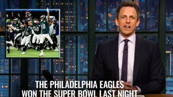 Late-Night Hosts Tackle Philadelphias Super Bowl Victory Reaction