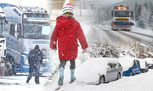 UK snow: Britain braced for coldest night in SIX YEARS with big freeze to last until MARCH