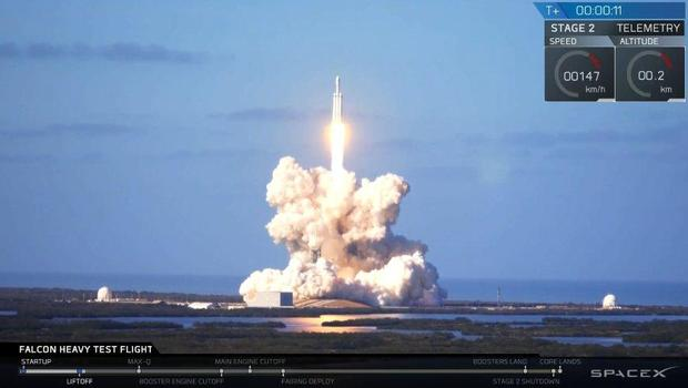SpaceX successfully launches worlds most powerful rocket