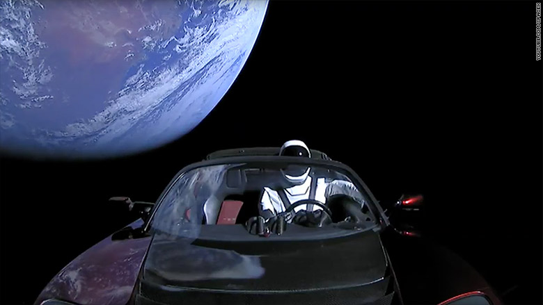 What happened to the Tesla that Elon Musk shot into space?