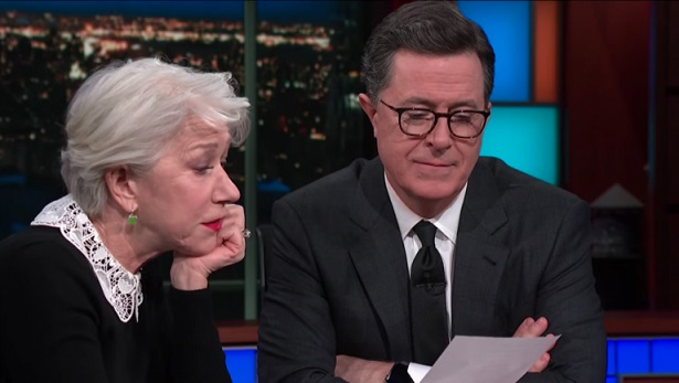Helen Mirren Makes Stephen Colbert Tear Up in Emotional Poetry Reading