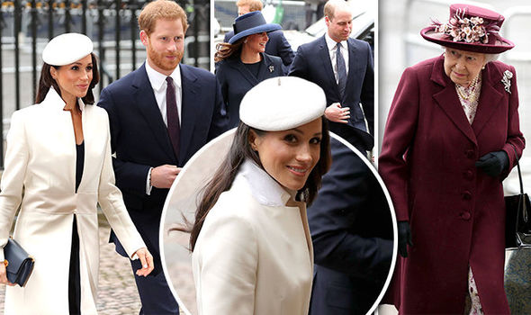 Stepping out with the in-laws! Meghan Markle in FIRST royal engagement with the Queen