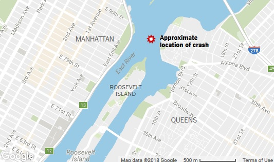 5 People Killed in Helicopter Crash in East River Off Manhattan