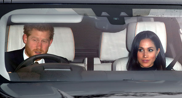 Prince Harry teaching Meghan Markle to drive on the LEFT as security provide EVASIVE moves