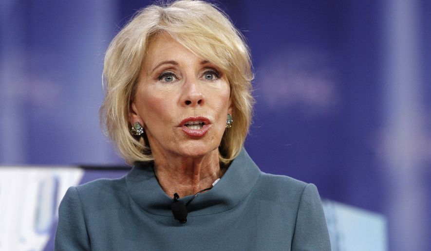 Betsy DeVos says teachers carrying guns in classroom an option for states