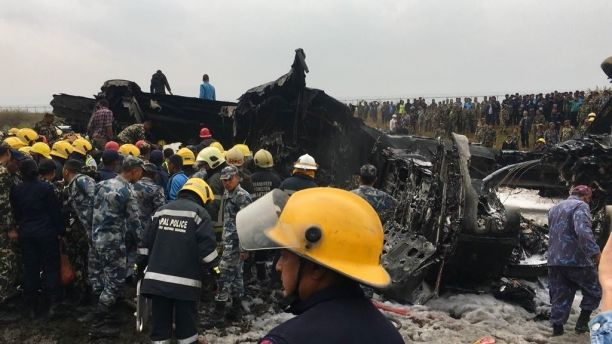 Nepal airport passenger plane crash leaves at least 49 dead, official says