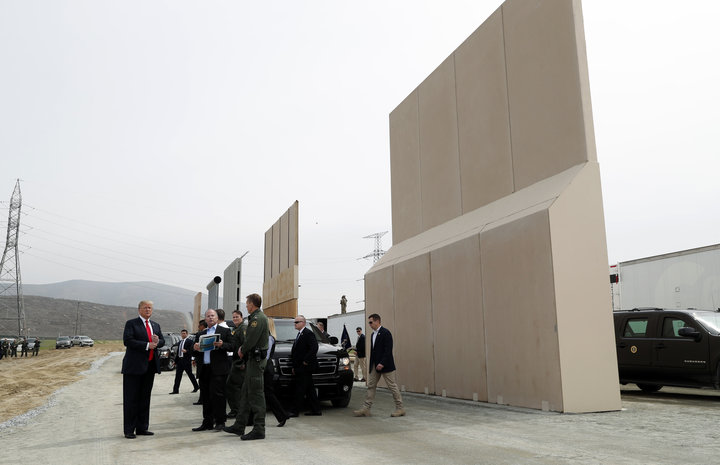 Trump's Visit To Wall Prototypes Shows The Hubris And Absurdity Of The Idea